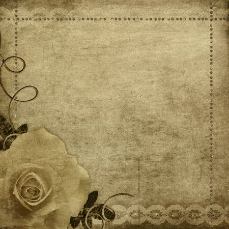 Grunge background with rose  photo