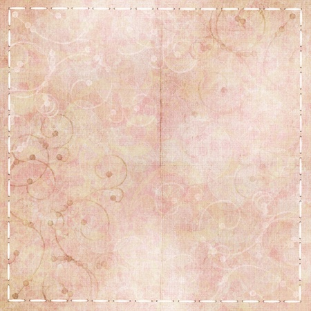 Vintage floral background in pink, beige, white photo