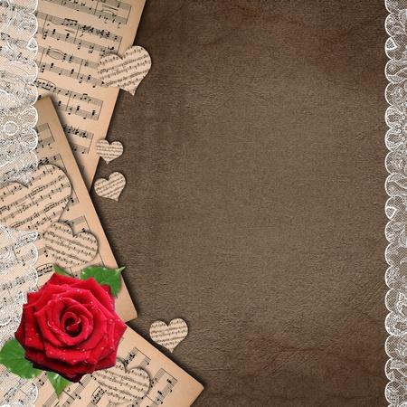 parchment: Grunge music background