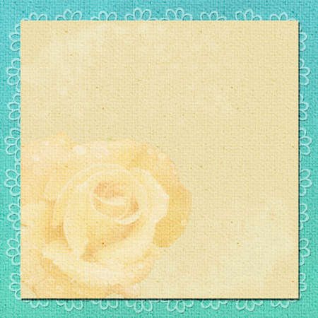 background in scrapbook style in beige, cyan colors photo