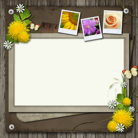scrapbook frames: Board with ecology design