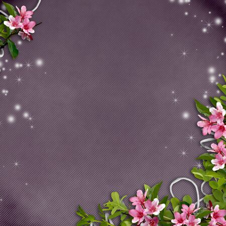 membrillo: flores sobre un fondo de textura cutre del �rbol Sparkle y membrillo  Foto de archivo