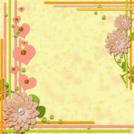 scrapbook page  in retro style with decorations  photo