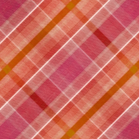 red, pink, white  and orange plaid  pattern  photo