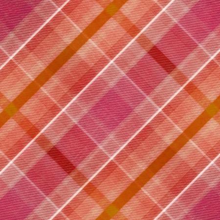 woolen fabric: rojo, patr�n de color de rosa, a cuadros blanco y naranja