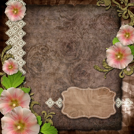 old paper on textured background for invitation or congratulation photo