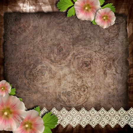 old paper on textured background for invitation or congratulation