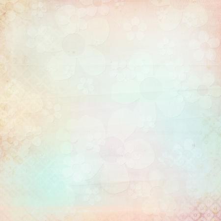 scrapbook cover: Fondo con textura flowes en cian, rosa, beige Foto de archivo