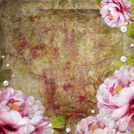 bribe: r�tro fond floral de style d'album Banque d'images