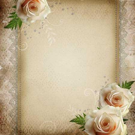 anniversario di matrimonio: annata sfondo bel matrimonio Archivio Fotografico