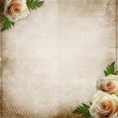 vintage beautiful wedding background  photo