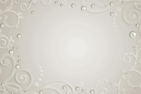 wedding backdrop: Sfondo astratto con perle, swirl