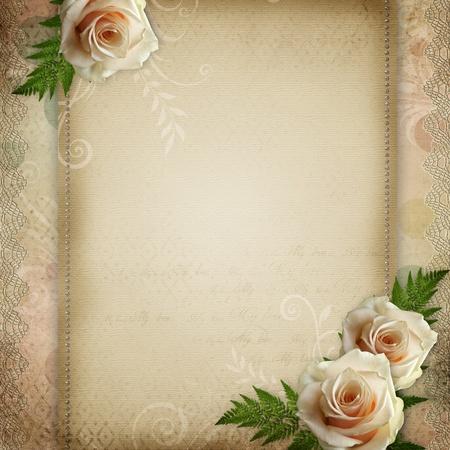 anniversaire mariage: mill�sime de fond beau mariage Banque d'images