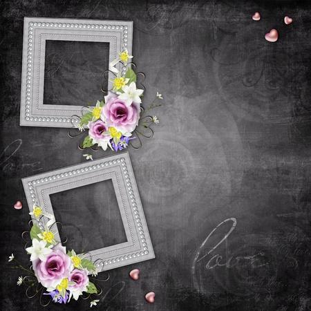 Vintage elegant frames with roses