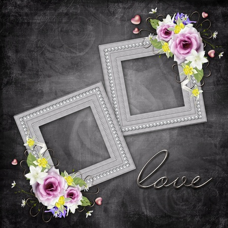 Vintage elegant frames with roses Stock Photo - 11710447