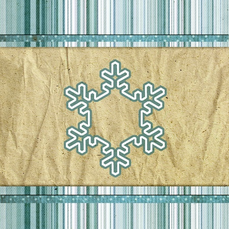 vintage pattern with snowflake photo