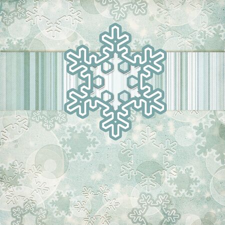vintage pattern with snowflake Stock Photo - 11710455