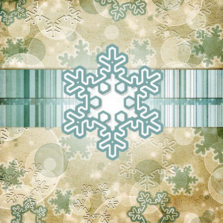 vintage pattern with snowflake Stock Photo - 11710460
