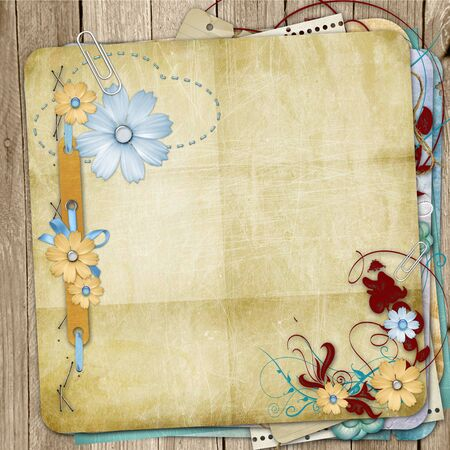 photo album cover: Old shabby style  photoalbum page