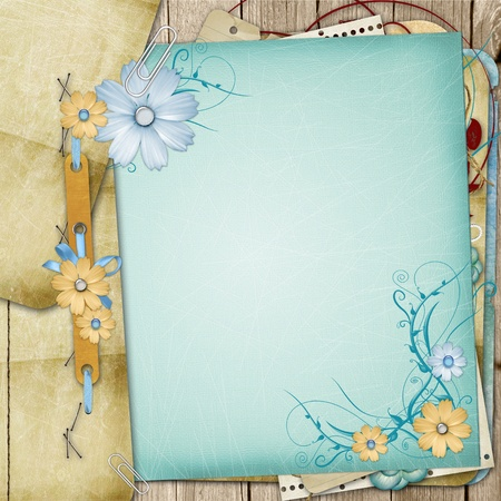 photo backdrop: Old shabby style  photoalbum page