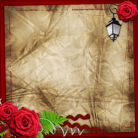 valentine bacground with red roses photo