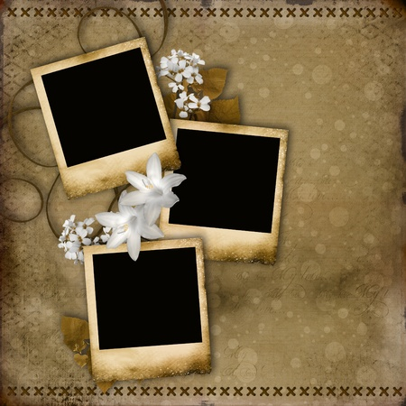 background abstracts: vintage frames on a grunge background