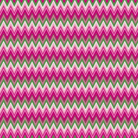 pin stripe: background with colored zigzag stripes (shades of pink, green, white)