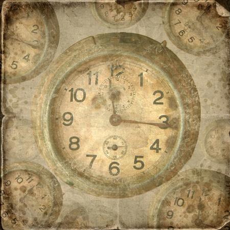Vintage klok. Abstract tijd thema achtergrond