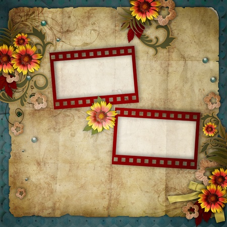 old frames on vintage background  Stock Photo - 11826927