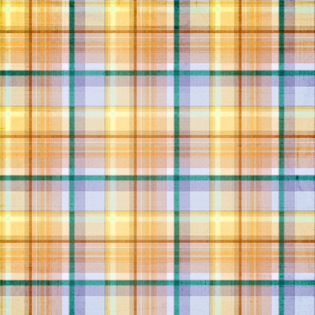 blue plaid: plaid striped background with pastel blue, green, gold, orange and purple colors