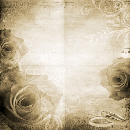 vintage beautiful wedding background  photo