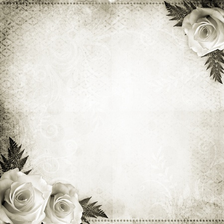 anniversario matrimonio: Vintage sfondo bel matrimonio