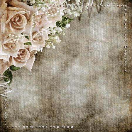 장미와 웨딩 빈티지 로맨틱 한 배경