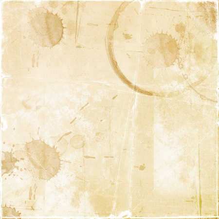 coffee stains: Texture - a sheet of the old paper with drops of coffee  Stock Photo