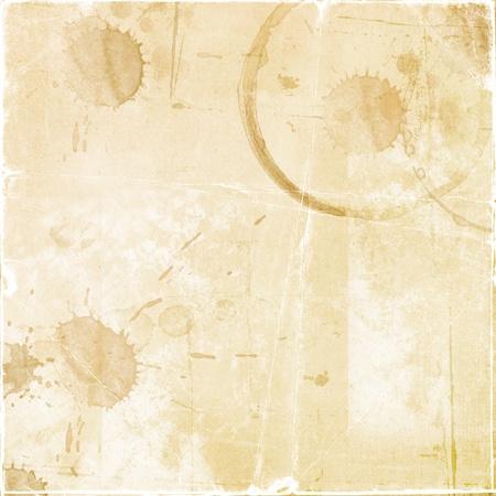 Textur - ein Blatt Papier mit der alten Tropfen Kaffee
