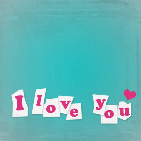 love you paper note photo