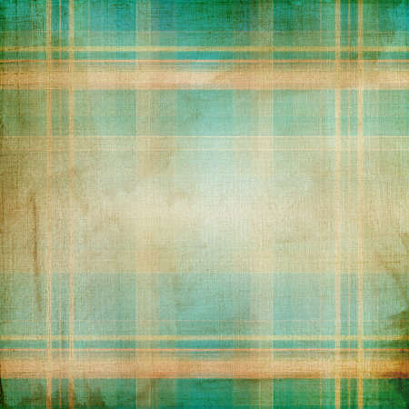 Blue and beige grunge background with plaid pattern  photo