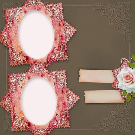 bronzed: vintage frames with rose