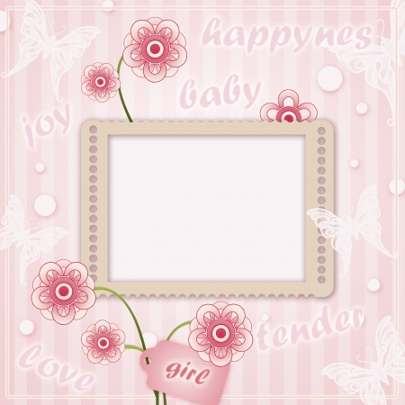 Decorative template frame  for baby photo photo