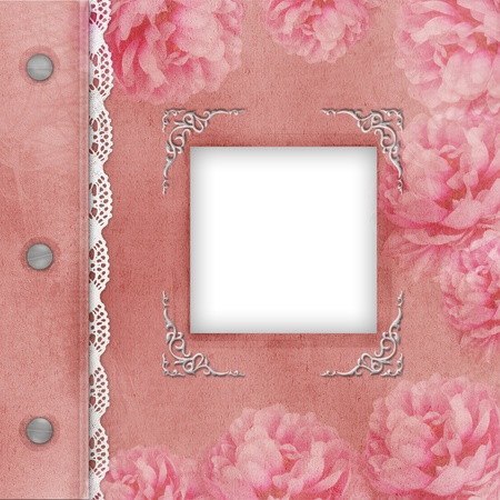 Cover Of Pink album with frame for photo photo