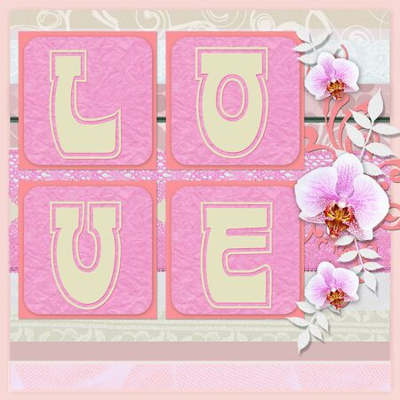 Love - card for Valentines Day  photo