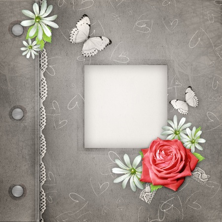 Cover Of album with frame for photo photo