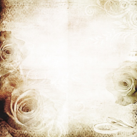 background vintage: vintage wedding background with roses