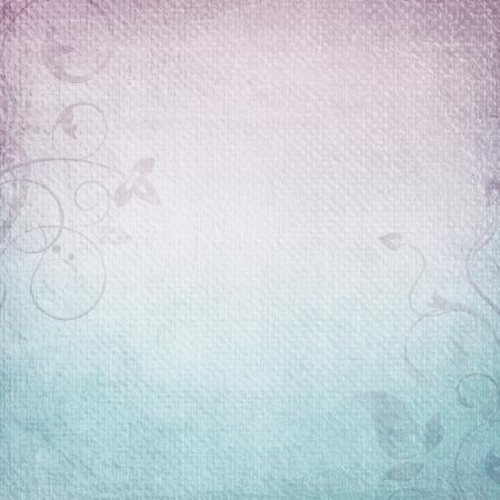 Ein Papier Hintergrund in lila und blau mit floralen Elementen Standard-Bild - 14119455