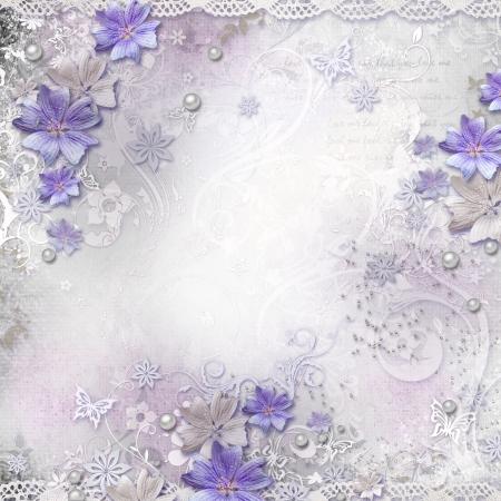 wedding backdrop: Primavera sfondo con fiori Archivio Fotografico