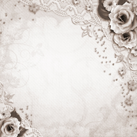 silver anniversary: Elegance wedding background Stock Photo