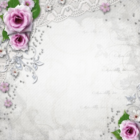 Elegance wedding background Stock Photo