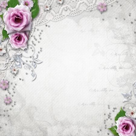 Eleganz Hochzeit Hintergrund Standard-Bild - 14119542