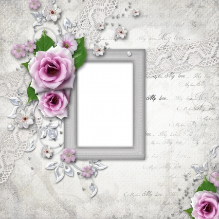 silver wedding anniversary: Elegance silver frame for  photo