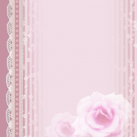shabby chic: vintage romantic background with roses  Stock Photo